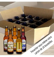Colis composition 24 bières 24x33cl