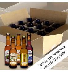 Colis composition 12 bières 12x33cl